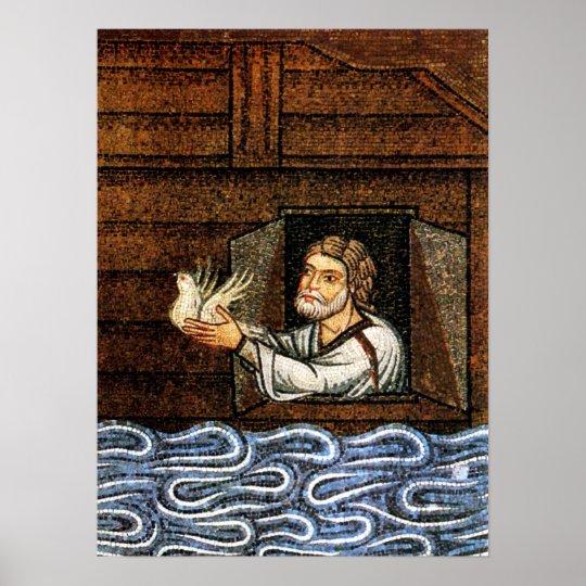 Noah's Ark Mosaic - Circa 1200 - Artist Unknown Poster