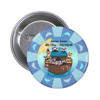 Noahs Ark New Baby Standard, 2¼ Inch Round Button
