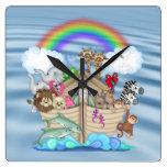 Noahs Ark Nursery Wall Clock
