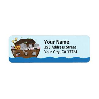 Noah's Ark Ocean Address Labels
