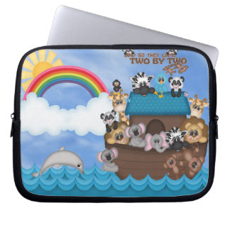 Noahs Ark of Animals Two by Two Bible Great Flood Laptop Sleeve