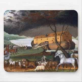 Noah's Ark - Painting by Edward Hicks - 1846 Mouse Pad