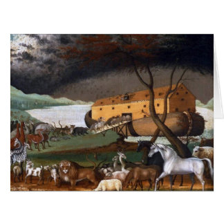 Noah's Ark - Painting by Edward Hicks - Circa 1846 Card