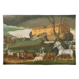 Noah's Ark - Painting by Edward Hicks - Circa 1846 Placemat