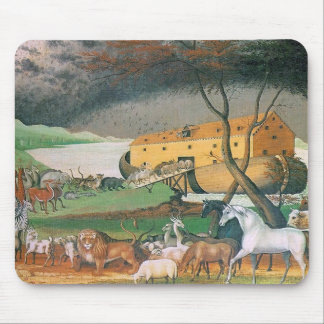 noahs ark painting mouse pad