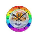 Noah's Ark Personalized Wall Clock