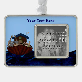 Noah's Ark Silver Plated Framed Ornament