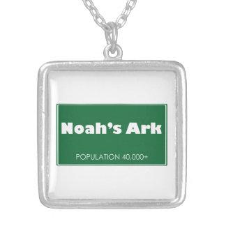 Noah's Ark Population Sign Necklace