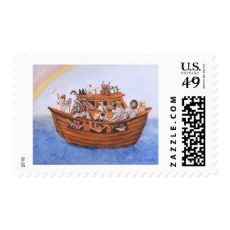 Noah's Ark Postage Stamp