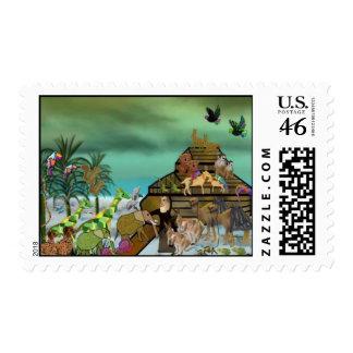 Noah's Ark Postage Stamps