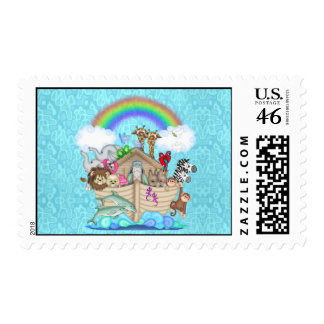 Noahs Ark Postage Stamps for Matching Invitations
