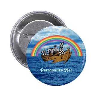 Noah's Ark & Rainbow 2 Inch Round Button
