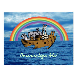 Noah's Ark & Rainbow Postcard