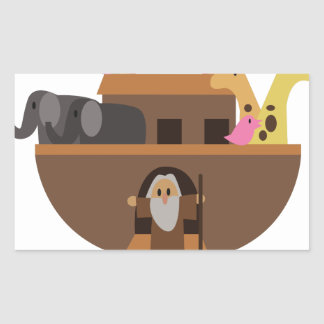 Noahs Ark Rectangular Sticker