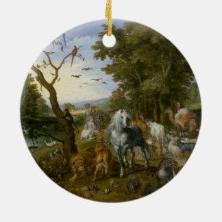 Noahs Ark Religious Art Ceramic Ornament
