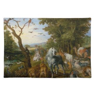 Noahs Ark Religious Art Cloth Placemat