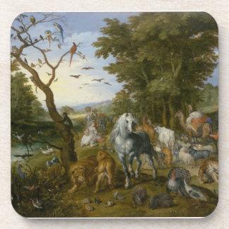Noahs Ark Religious Art Drink Coaster