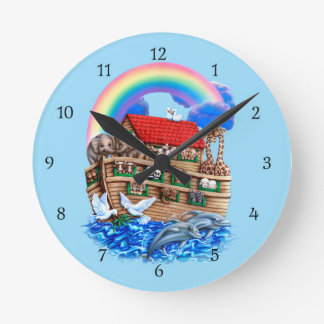 Noah's Ark Round Clock