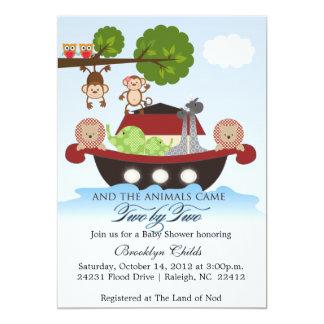 Noah's Ark Sets Sail Baby Shower Invitation