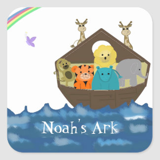 Noah's Ark Square Sticker