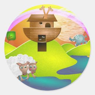Noahs Ark Round Stickers