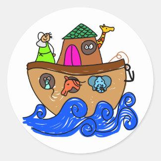 Noahs Ark Round Sticker