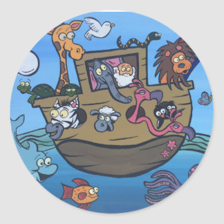 Noah's Ark Round Stickers