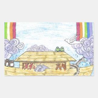 Noah's Ark Rectangle Sticker