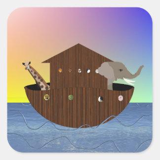 Noah's Ark Stickers Square Sticker