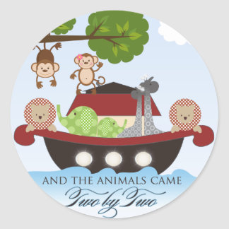 Noah's Ark Stickers-Animals Came Two by Two