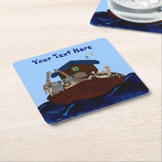 Noah's Ark Square Paper Coaster