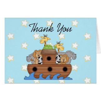 Noah's Ark Thank You  Notes Cards