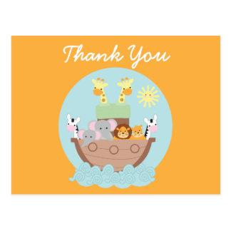 Noah's Ark Thank You Postcard