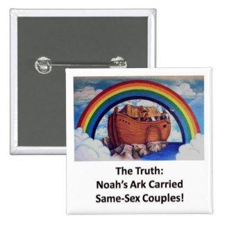 Noah's Ark:  The Truth 2 Inch Square Button