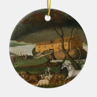 Noah's Ark vintage religious painting ornament
