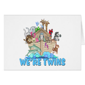 Noah's Ark We're Twins Greeting Cards
