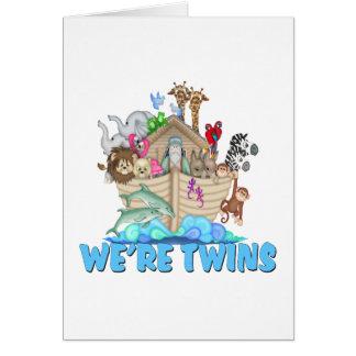 Noah's Ark We're Twins Card