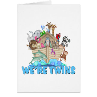 Noah's Ark We're Twins Greeting Card