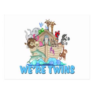 Noah's Ark We're Twins Postcard