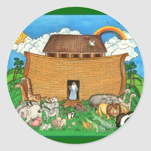 Noah's Ark with Rainbow Sticker