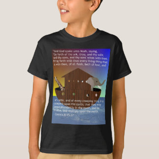 Noah's Ark (with scripture) Kids' T-Shirt