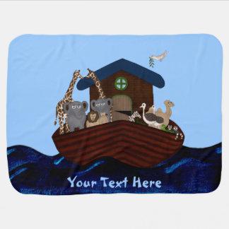 Noah's Ark Receiving Blankets