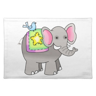 NOAHS ELEPHANT CLOTH PLACE MAT