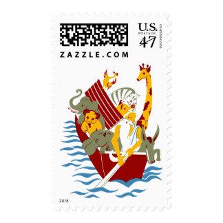 Noah's Mini Ark Biblical Stamp