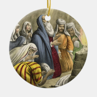 Noah's Sacrifice on Leaving the Ark, from a bible Ceramic Ornament