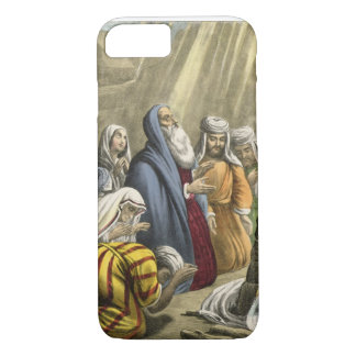 Noah's Sacrifice on Leaving the Ark, from a bible iPhone 8/7 Case