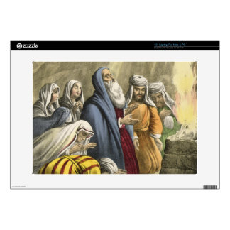 Noah's Sacrifice on Leaving the Ark, from a bible Skins For Laptops