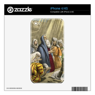 Noah's Sacrifice on Leaving the Ark, from a bible Skin For The iPhone 4S