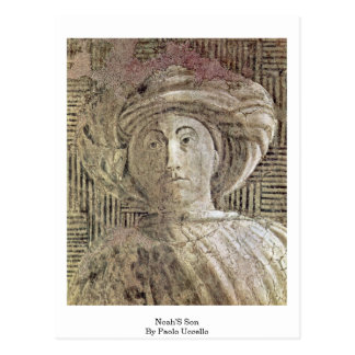 Noah'S Son By Paolo Uccello Postcard
