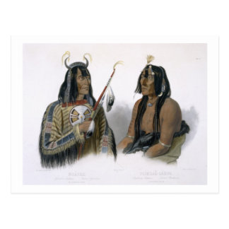 Noapeh, an Assiniboin Indian and Psihdja-Sahpa, a Postcard